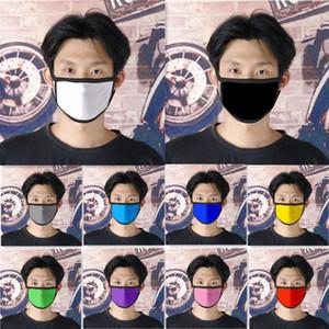 10 colores puros máscara de color blanco Máscaras de los niños contra la boca del polvo de mufla lavable reutilizable adulto cara no desechables