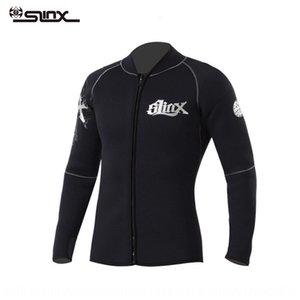 SLINX утолщенной Теплый 5мм замши внутренняя подкладка теплая сплит водолазный костюм серфинг плавание пиджак