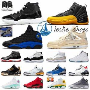 Sapatas de basquetebol dos homens Trainers 5s Alternate Grape 4s Aqua claro 12s Universidade 11s escuras ouro 13s Flint Aurora 1s Sneakers Desporto