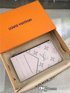 Heiße Frauen Portemonnaie Designer Luxus-Tasche Geldbörse aus echtem Leder-Kartenhalter Luft Stern 7264991 M62914 LOU Serie Größe 8x14.5x1cm mit Box