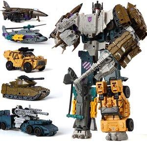Haizhixing 5 IN 1 Transformation Робот автомобиль игрушки Аниме Разрушитель Самолеты Танк модели KO игрушки для мальчиков Грузовик Коллекция Kid Игрушка для взрослых