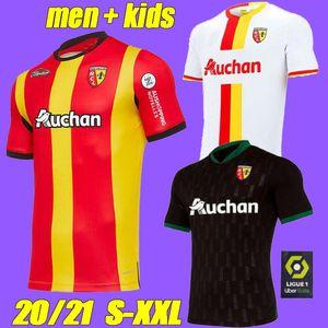 2021 RC Lens pullover assente di calcio Gradit Fortes Cahuzac Perez 2020 magliette di calcio 2021 RC Lens maillot de foot Camisa de futebol Uomo