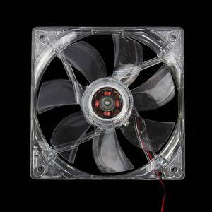 12 Вентилятор охлаждения компьютера PC CPU Cooler Clear Compute Case Quad 4 Blue LED Light hz2B #