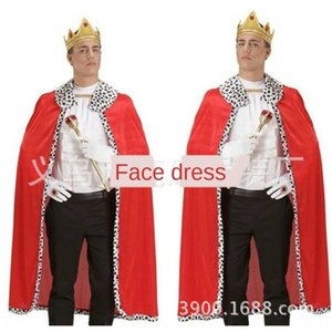 Dia das Crianças adulto cosplay Rei traje Princesa Príncipe roupas desempenho Dia das Crianças Cloak roupas vestuário adulto cosplay clo