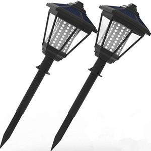 108 Colunas LED decorativas Publicar Lanterna Pole Lamp Caminho Jardim Luz Solar Lawn lâmpada Paisagem iluminação para Pátio Quintal Path Backyard
