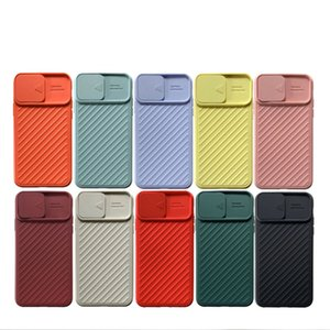 Camera lens protection phone case For iPhone6 6S 7 8 Plus XR XS 11 Pro Max Slide Lens Candy Silicone Shockproof Cover