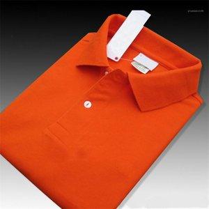 Mens polos de la manera suelta de manga corta camiseta de verano ocasionales respirables Polos Superior Masculina diseñador color sólido