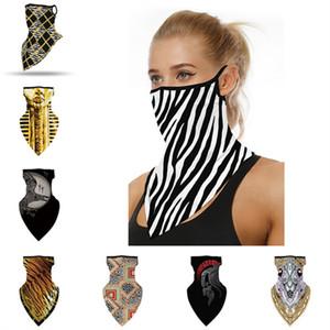 Mode unisexe visage Masque vélo Foulard Sport Impression numérique Bandanas Masques anti-poussière Anti-UV Face Triangle Foulards Hommes Femmes Foulard