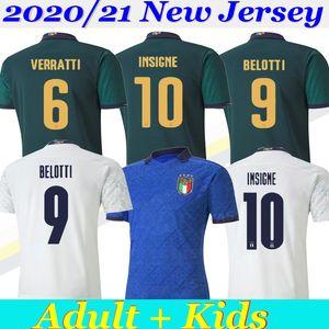 2020 camisas de futebol Taça da Europa ITÁLIA equipe nacional Itália INSIGNE BELOTTI Verratti KEAN BERNARDESCHI homens e crianças camisa de futebol uniformes