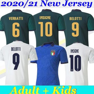 2020 Europa-Cup ITALIEN Fußball Trikots Nationalmannschaft Italien INSIGNE BELOTTI Verratti KEAN Bernardeschi Männer und Kinder-Fußballhemd Uniformen