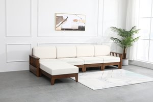 Nouveau style chinois siège solide carte de négociation d'affaires canapé invité salon de ménage de bureau en bois petite combinaison canapé chaise famille