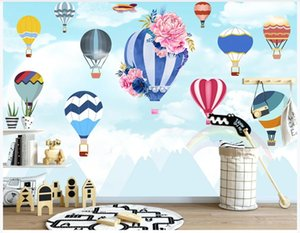 Custom photo wallpapers 3d mural wallpaper European simple cartoon balloon children's house mural background wall papers home decoration