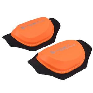 Rodilla de naranja Moto Sports Pad Protector de rodilla Sliders pads para montar a caballo de patinaje snowboard