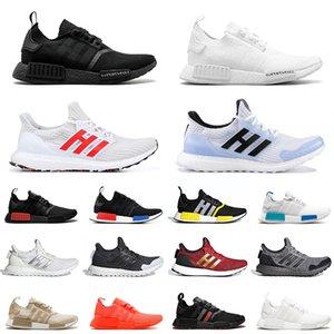 حذاء الجري الرجالي من Adidas NMD R1 Game Of Thrones x Ultra Boost للرجال والنساء ثلاثي أسود وأبيض ووكر حذاء رياضي رياضي للرجال