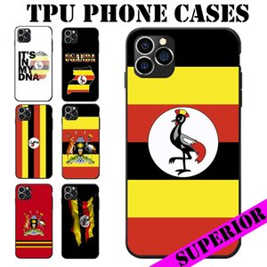 Uganda I Love Landscape Map Heart Coat Of Arm Antique TPU Phone Cases For Samsung Galaxy A20 50 70 M20 30 S7 S8 S9 S10 LITE Edge PLUS NOTE