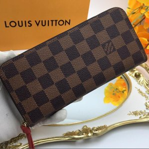 Wholesale New fashion able zipper designer wallet cards and coins famous mens wallets leather purse card holder coin purse women wallet