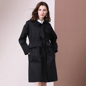 Shetelisi Femmes Long Trench avec Sash Mode Automne manteau de la rue Casual pour les dames élégantes st19037 Vvhv #