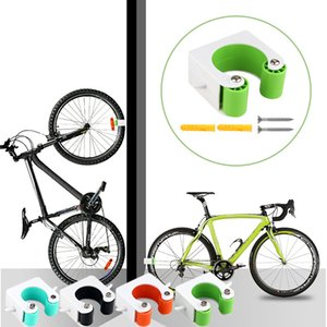 2020 Nova bicicleta de montagem na parede Gancho Road Bike Estacionamento Buckle parede portátil rack Suporte Vertical Indoor para corridas de bicicleta Jul716