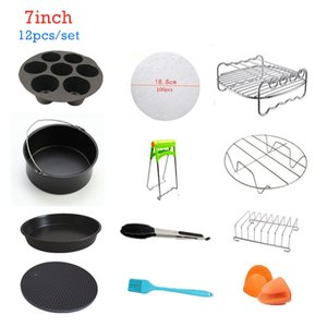 7 Inch 12pcs High Quality Air Fryer Accessories For Gowise Cozyna and Secura Fit All Airfryer 3.7 to 5.8QT