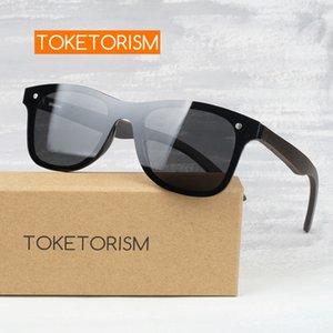 Óculos de sol Toketorism Mens Marca Designer Madeira Polarized Máscaras para as mulheres 4051