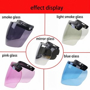 Professional 3 Pin Buckle Helmet DIY Glass Motorbike Helmet Glass Windshield Available Fits 3 Pink Buckle JR0M#
