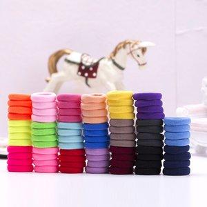 100 / Set Kız Candy Renk Saç bandı Küçük Esneklik Kauçuk Bant Naylon Kalınlaşmış Kafa Çocuk at kuyruğu Fixer Saç Aksesuarları