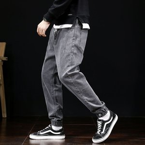Herren Jeans Loose Fit Weinlese-Harem-Hosen Multi Taschen Denim Cargo Pants Bottom Hip Hop Jogger Jeans Men Fashion Street Slack