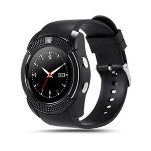 Смарт Часы V8 Мужчины Bluetooth Спортивные часы женщины дамы Rel Gio SmartWatch с щелевым камеры Sim карты для Android телефона PK DZ09 Y1 A1
