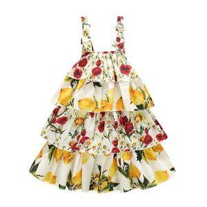 DFXD 2-10T Little Girls Summer Dress 2020 New Arrival Korean Children Sleeveless Print Bow Sling Dress Toddler Girls Beach Dress 0924
