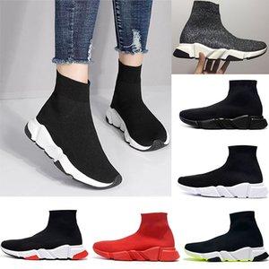 2020 Balenciaga Sock shoes Luxury Brand Socks shoes di modo Speed Trainer donne del Casual Scarpe Nero Triple Neon Grigio Prune Mens Sneakers Stylist Size 36-47