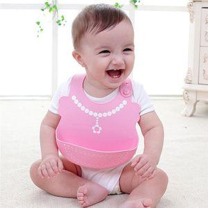 Baby Bibs Waterproof Silicone Feeding Infant Saliva Towel Newborn Ccartoon Aprons Baby -Grade Silicone Bibs Rice Pocket