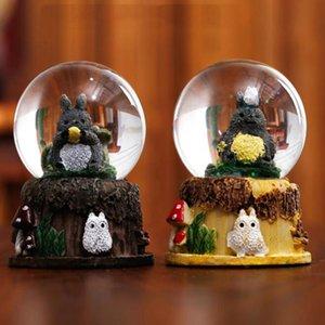 Мультфильм милый котенок с флэш-хрустальный шар дисплеем творческой снежинкой настольного украшением