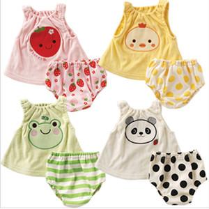Karikatür Yelek Suit Yaz Pamuk Bebek Giyim Japanese Style Knicker The Climb Giyim Canlandırıcı Bebek Seti