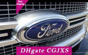 Ford Parrilla delantera de la puerta posterior del emblema, oval 6 quot; X2 0,4 quot;, azul marino Decal Placa Placa de identificación Para 07 -10 Edge, 05 -11 Escape, 06 -10 Explor