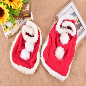 S M Pet Christmas Red Cloak Dog Cat Santa Cosplay Clothe Xmas Dog Party Mantle