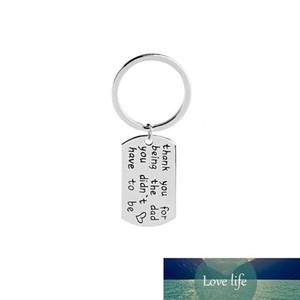 Stiefvater Schlüsselanhänger danken den Vater für sind Sie nicht das Schlüsselketten für Vater Auto seinem Rucksack Papa Geburtstag Schlüsselbund
