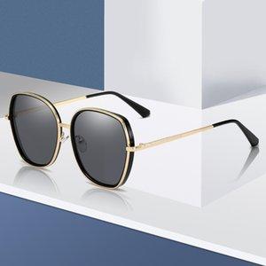 Trevorariza Солнцезащитные очки Бренд Дизайн Мода Женщины Металлические Солнцезащитные Очки Роскошные Леди Негабаритные Солнцезащитные Очки UV400 Оттенки Очки