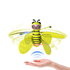 Mini drone induction d'abeille modèle d'hélicoptère d'avion télécommande enfants anniversaire présent à la fois garçon et une fille