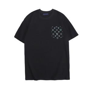 2020 Mens di estate delle donne della lettera di modo T-shirt # 011 europeo nei pressi di lusso casuali Camicia a maniche corte Streetwear Bianco Stampa Medusa Tees
