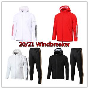 2020 mens 2021 di Real Madrid a vento 20 21 Bale giacca manica lunga con cappuccio della tuta con cappuccio da calcio Benzema cappotto di polvere Modric cappotto del vento