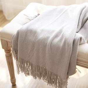 Summer Sofa Couch Chair Tassel Blanket Children Teenager School Quilting Comforter Women Shawls Manta