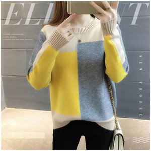2019 New Girls Knitted Sweaters Spring Contract Candy Colors O Neck Pullover Jumpers Tops Outwear Basic Thermal Layer Shirt