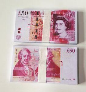 Британский United Kindom Банкнота 50 фунтов Примечание для сбора или Бизнес подарки поддельных денег Prop Бумажных денег GBP Цен Bills банкноты 02