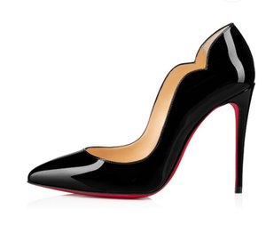 HOT Women Dress High Heels Sexy Pointed Toe Red Sole 8cm 10cm 12cm Pumps Come With dust bags Wedding shoes