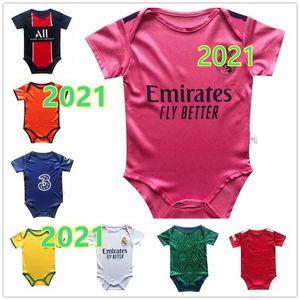 Die neueste Baby jersey2020 Real Madrid 2 Sterne Mbappe Baby Fußball Jersey 2020-2021 6-18 Monate Fußballhemd