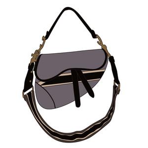 2020 new famous brand ladies bag saddle retro super high quality saddle messenger bag handbag star celebrity inspiration embroidery shoulder