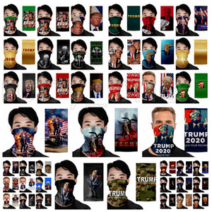 Trump magique Masque Visage président américain Trump Foulard Bandana Élection antipoussière Outdoor Foulard vélo magique Parti Couvre-chef Masques RRA3484