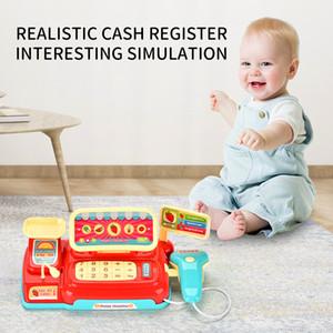 لعبة التظاهر محاكاة سوبر ماركت النقدية تسجيل الأطفال لعبة النقدية تسجيل مصغرة مكافحة هدية للطفل Souptoys