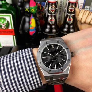 6 Art-Qualitäts-Black audemars piguet Sapphire Mens 41mm ap Uhr Automatik-Uhrwerk arbeiten mechanische Uhren ROYAL OAK 15400 Armbanduhren