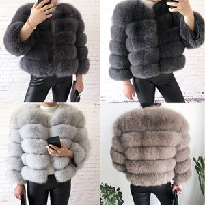2020 new style real fur coat 100% natural fur jacket female winter warm leather fox fur coat high quality vest Free shipping